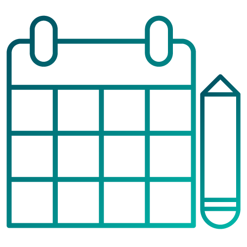 Calendar icon to represent requesting a service